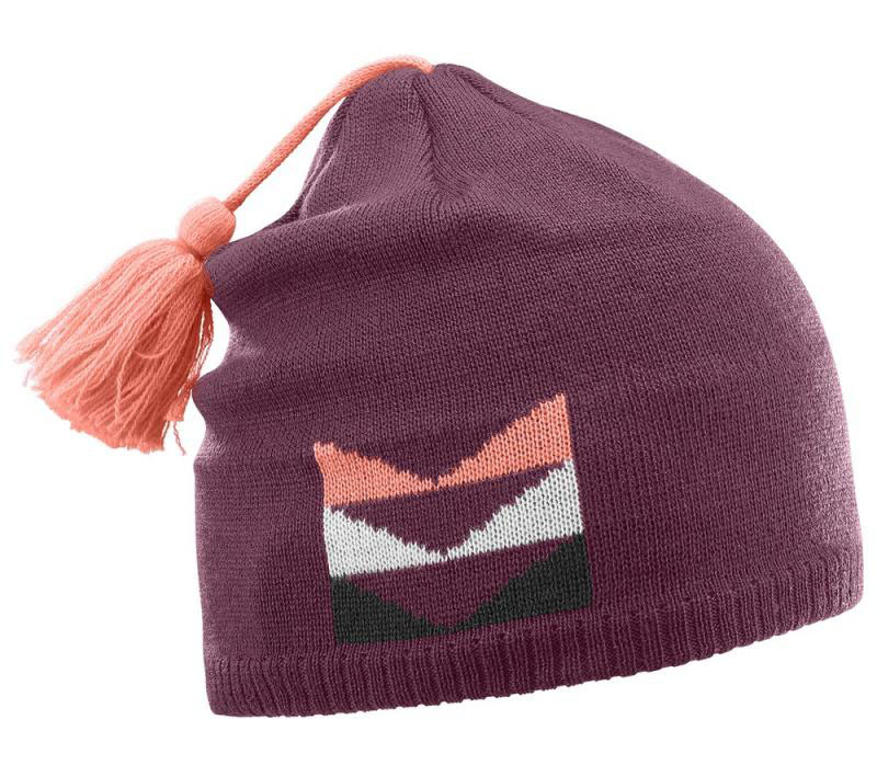 Шапка ESCAPE BEANIE Fig/Fluo Coral=
